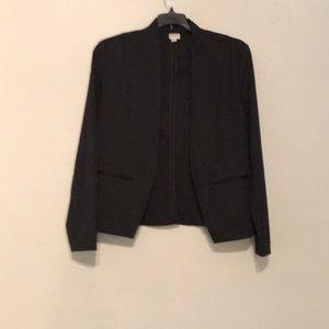 Merona black blazer with shoulder pads